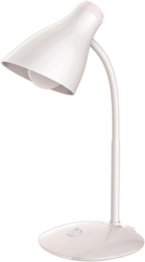 DE1726 Светильник настольный, гибкий рожок 7W,100-240V, 4000K, 420*160*170, белый