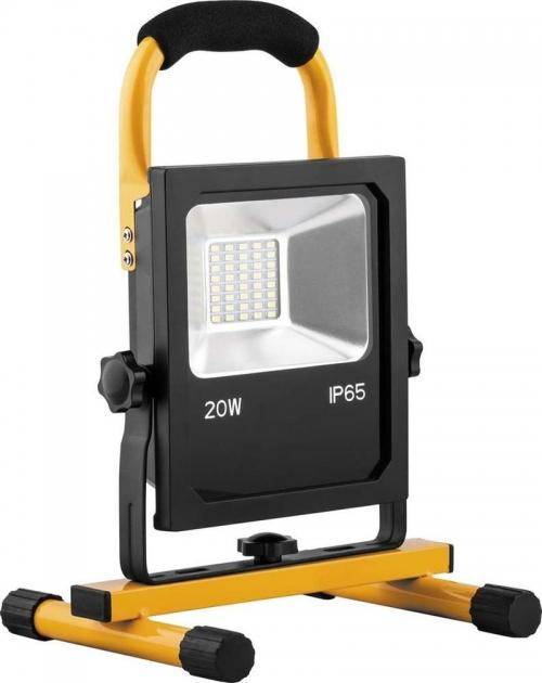 LL-912, Прожектор светодиодный с зарядным устройством 20W, 6400K, 40*SMD5730, IP65, 215*185*320 мм