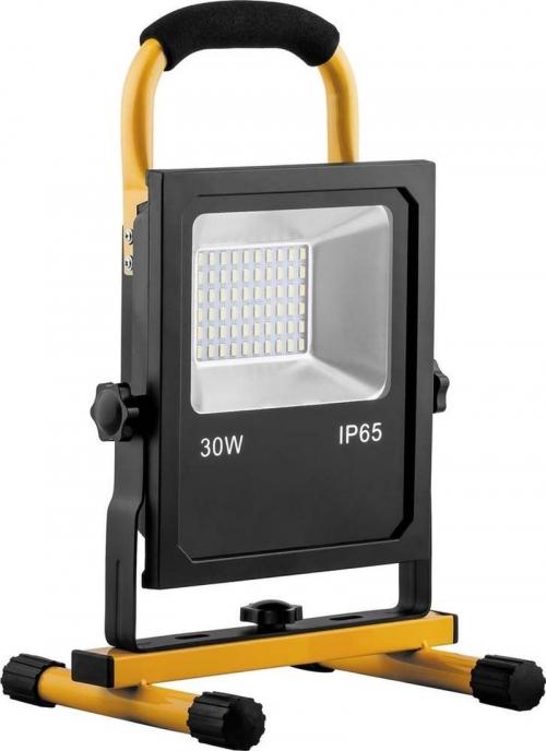 LL-913, Прожектор светодиодный с зарядным устройством 30W, 6400K, 60*SMD5730, IP65, 215*185*350 мм