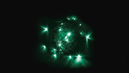 CL02 Гирлянда линейная, 20 LED зеленый, 2м +1.5м (с контроллером) зеленый шнур, IP20