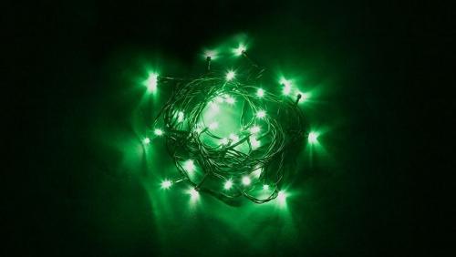 CL03 Гирлянда линейная, 40 LED зеленый, 4м +1.5м (с контроллером) зеленый шнур, IP20