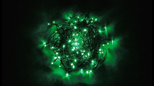 CL05 Гирлянда линейная, 100 LED зеленый, 10м +1.5м (с контроллером) зеленый шнур, IP20