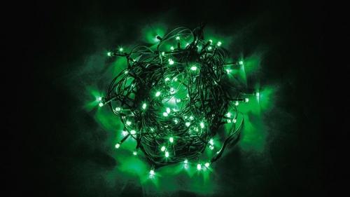 CL06 Гирлянда линейная, 200 LED зеленый, 20м +1.5м (с контроллером) зеленый шнур, IP20