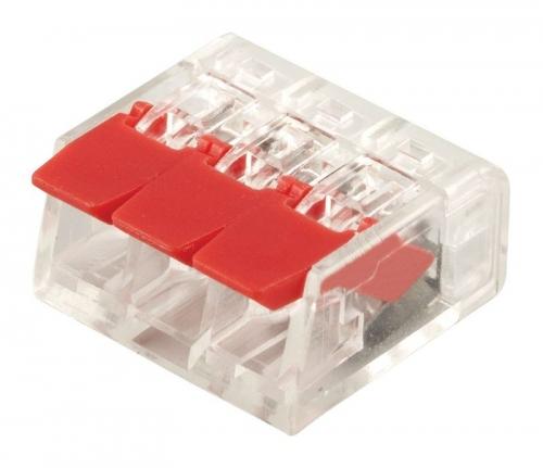 LD221-413 Универсальные компактные клеммы 3-проводные  (DIY упаковка 5 шт) Для продажи