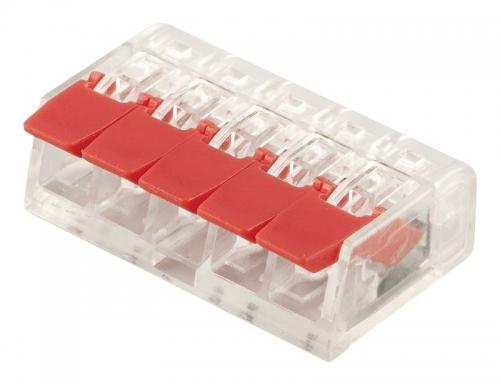 LD221-415 Универсальные компактные клеммы 5-проводные  (DIY упаковка 5 шт) Для продажи