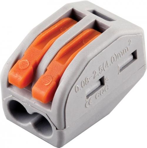 LD222-412 Cтроительно-монтажные клеммы 2-проводные  (DIY упаковка 5 шт)