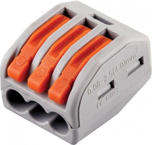 LD222-413 Cтроительно-монтажные клеммы 3-проводные  (DIY упаковка 5 шт)