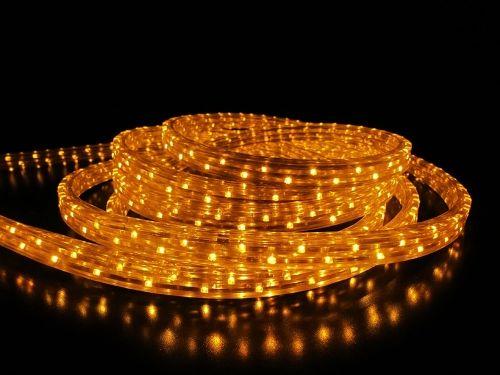 Дюралайт LED Тепло-белый, квадратный, 3-жилы