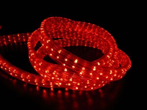 Дюралайт LED Красный, квадратный, 3-жилы